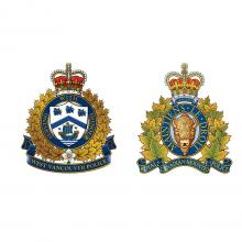 West Vancouver Police crest next to RCMP crest